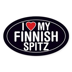I Love My Finnish Spitz Oval Sticker/Decal Sticker (Oval 50 pk)
