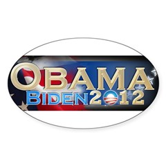 Obama Biden - Sticker (Oval 50 pk)