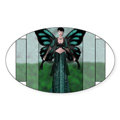 Etégina the Night Fairy Rectangle Sticker (Oval 50 pk)