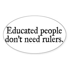 Educated People Sticker (Oval 50 pk)