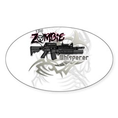 Zombie Whisperer Hunter M16 Sticker (Oval 50 pk)