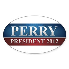 Rick Perry 2012 Sticker (Oval 50 pk)