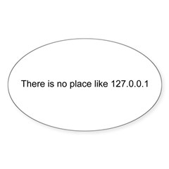 127.0.0.1 Rectangle Sticker (Oval 50 pk)