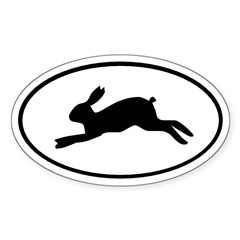 Rabbit Oval Sticker (Oval 50 pk)
