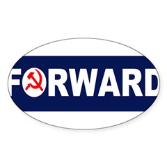 AmerikaForward Sticker (Oval 50 pk)