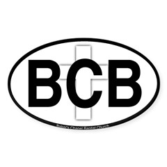 Baker's Chapel Oval Sticker (Oval 50 pk)