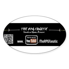 RPG Fanatic Bumper Sticker (single) Sticker (Oval 50 pk)