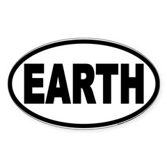 Earth Day EARTH Euro Oval Sticker (Oval 50 pk)