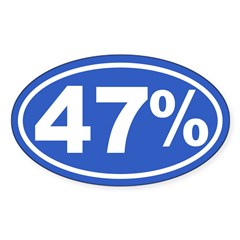 47 Percent Sticker (Oval 50 pk)
