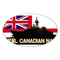 Royal Canadian Navy Rectangle Sticker (Oval 50 pk)