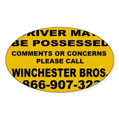 How's My Driving Sticker (Oval 50 pk)