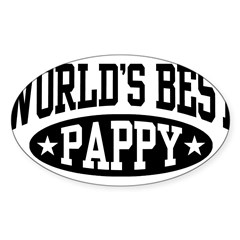 World's Best Pappy Sticker (Oval 50 pk)