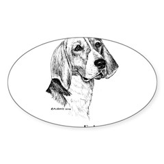American Foxhound Sticker (Oval 50 pk)