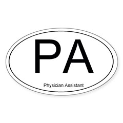 Physician Assistant Oval Sticker (Oval 50 pk)