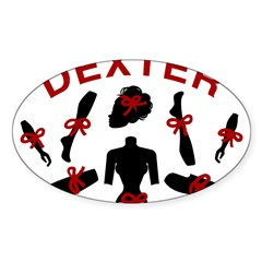 Dexter Dismembered Doll Sticker (Oval 50 pk)