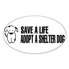 Adopt A Dog Sticker (Oval 50 pk)