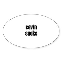 Gavin Sucks Rectangle Sticker (Oval 50 pk)