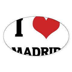 I Love Madrid Rectangle Sticker (Oval 50 pk)