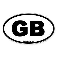 Great Britain GB Euro Oval Sticker (Oval 50 pk)