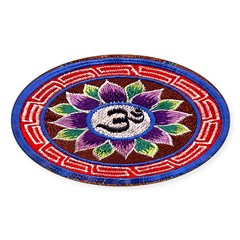 OM Tapestry Oval Sticker (Oval 50 pk)