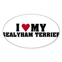 I Love My Sealyham Terrier Sticker (Oval 50 pk)