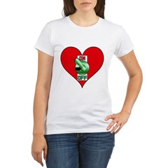 Heart On Organic Women's T-Shirt