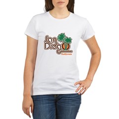 San Diego California Organic Women's T-Shirt