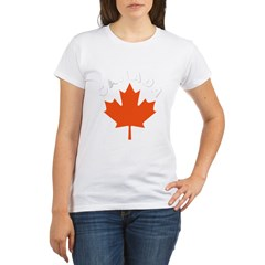 Canadian Maple Leaf Organic Women's T-Shirt