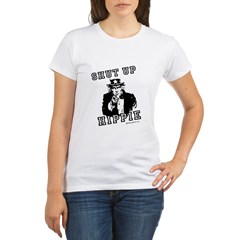 Shut up, Hippie - Organic Women's T-Shirt