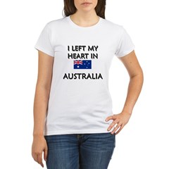 I Left My Heart In Australia Organic Women's T-Shirt