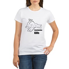 Constipation Kills! Sleeveless Chicken T-Shir Organic Women's T-Shirt