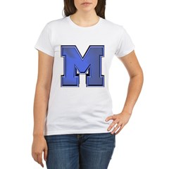 M Go Blue Organic Women's T-Shirt