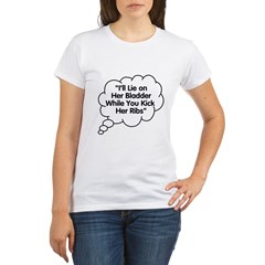 What Twins say under this Organic Women's T-Shirt
