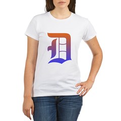 Olde English D Women's + Size Scoop Neck Dark Tee Organic Women's T-Shirt