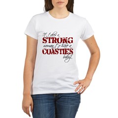 Strong woman (Coastie) Organic Women's T-Shirt