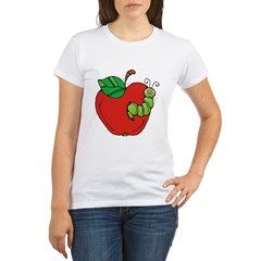 Wormy Apple Organic Women's T-Shirt