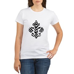 Fleur de lis Animals 1 Organic Women's T-Shirt