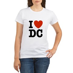 I Love DC Organic Women's T-Shirt
