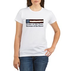 Home of the Free Organic Women's T-Shirt
