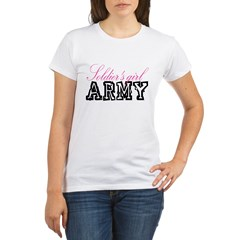 Soldier's girl Organic Women's T-Shirt
