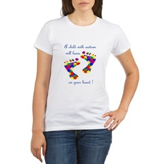 Footprints on your heart Organic Women's T-Shirt