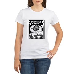 Zombies / Delicious Brains Organic Women's T-Shirt