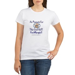 No Peanuts For This Cool Kid Organic Women's T-Shirt