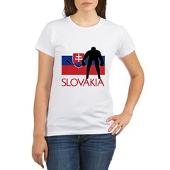 Slovak Hockey Organic Women's T-Shirt