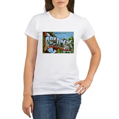 Arkansas Postcard Organic Women's T-Shirt