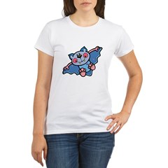 Blue Bat Organic Women's T-Shirt