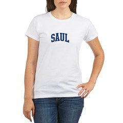 SAUL design (blue) Organic Women's T-Shirt