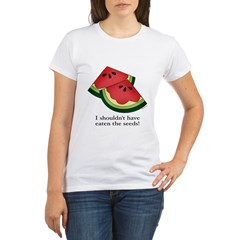 Watermelon Seeds Organic Women's T-Shirt