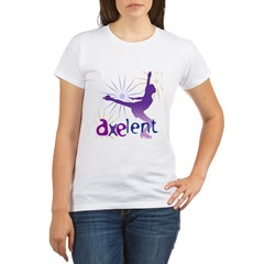 Ice Skating is Axelent Organic Women's T-Shirt