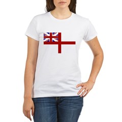 royal navy flag oblong.jpg Organic Women's T-Shirt